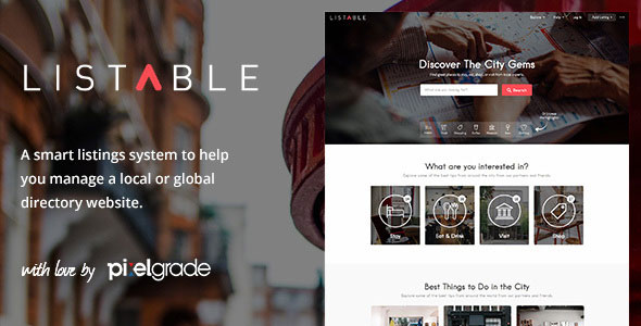 Download Free LISTABLE wordpress theme v1 8 10